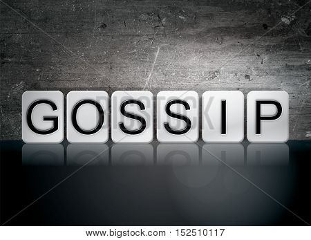 Gossip Tiled Letters Concept And Theme