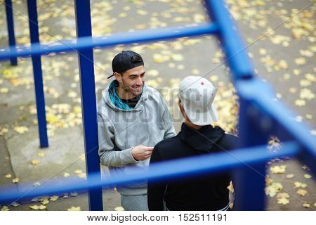 Talk in park