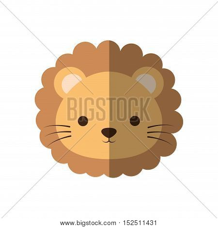 cute lion animal isolated icon vector illustration design