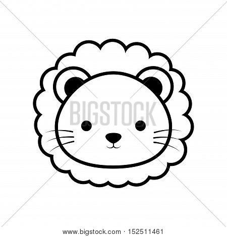cute lion animal isolated icon vector illustration design