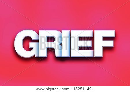 Grief Concept Colorful Word Art