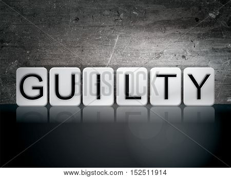 Guilty Tiled Letters Concept And Theme