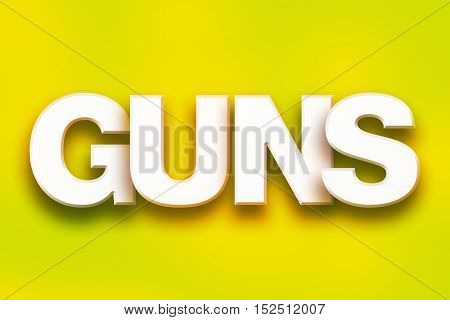 Guns Concept Colorful Word Art