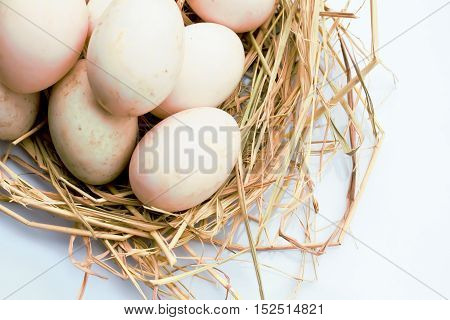 Eggs on wooden eggs on eggs background background