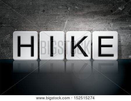 Hike Tiled Letters Concept And Theme