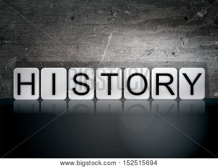 History Tiled Letters Concept And Theme