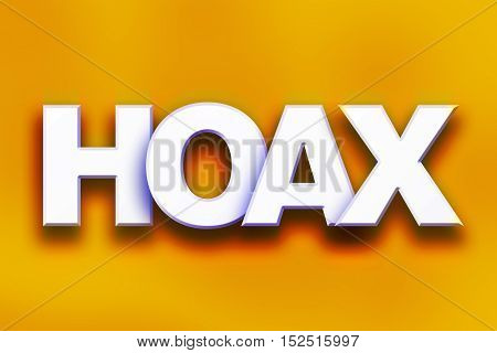 Hoax Concept Colorful Word Art