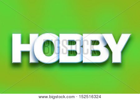 Hobby Concept Colorful Word Art