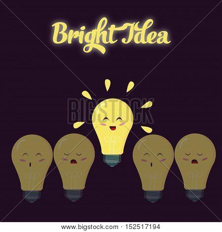 A bright idea. Light bulbs show the positive thinking