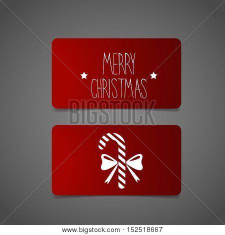 Christmas Greeting Card, vector illustration