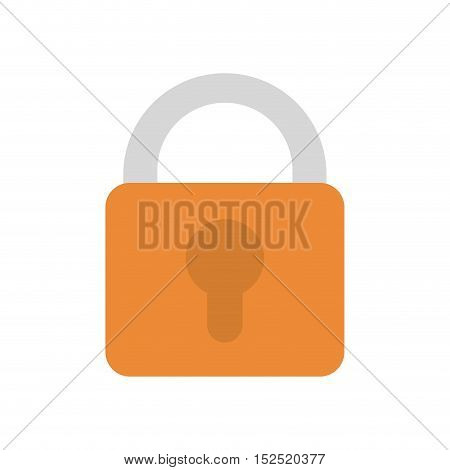 safe secure padlock isolated icon vector illustration design