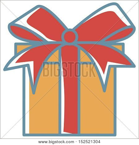 Gift icon. Thin line vector Gift peefect for web and mobile applications, can be used as logo, pictogram, icon, infographic element. Vector Illustration.