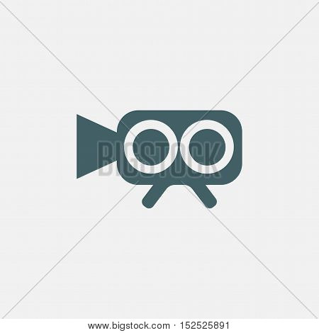 video camera icon isolated on white background