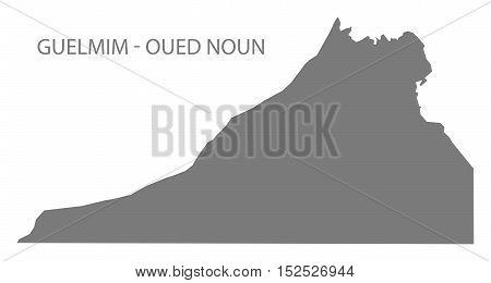 Guelmim - Oued Noun Morocco Map grey illustration high res