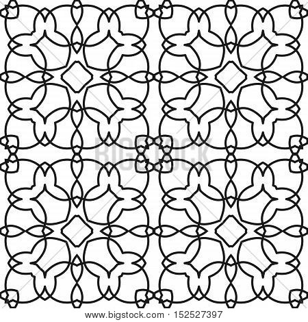 Coloring Book Pages For Adults, Anti Stress Coloring. Seamless Pattern Design. Decorative Abstract B