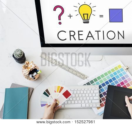 Creative Curiosity Ideas Equation Concept