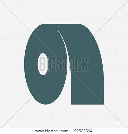 toilet paper vector icon isolated on white background
