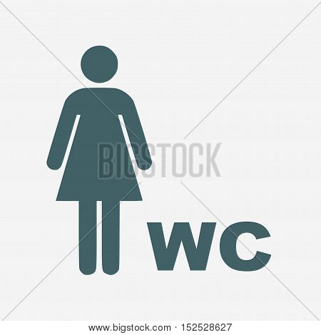 women vector icon. toilet vector icon isolated on white background