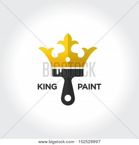 Best Paint Job. King and Royal concept vector illustration