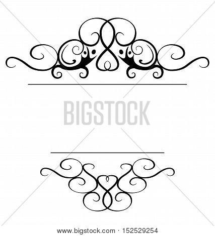 Graphic elements - a vignette frame or boder. Eps 10