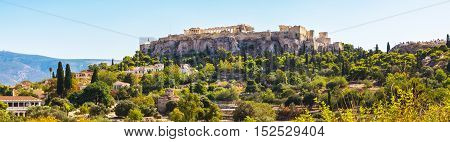 Day Athens panoramic skyline with Acropolis view against blue sky, Greece
