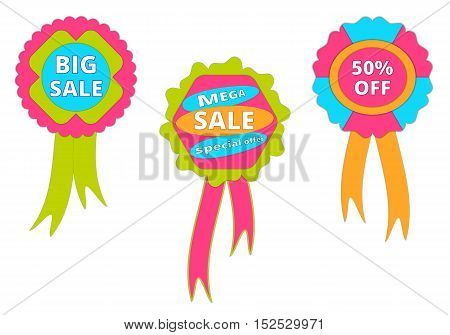 Set of banners for business or commerce. Vector illustration.