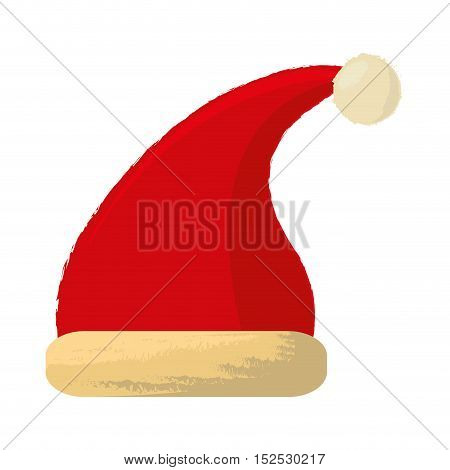 merry christmas hat isolated icon vector illustration design
