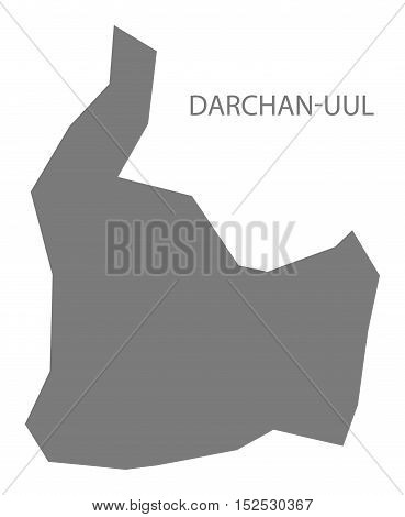 Darchan - Uul Mongolia Map grey illustration high res
