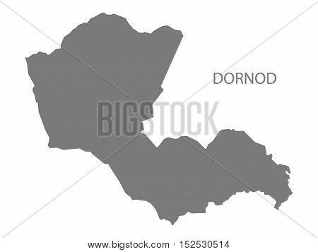 Dornod Mongolia Map grey illustration high res