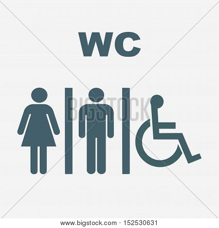 toilet vector icon isolated on white background