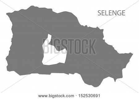 Selenge Mongolia Map grey illustration high res