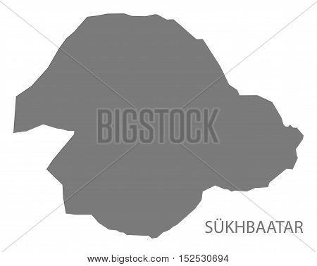 Sukhbaatar Mongolia Map grey illustration high res