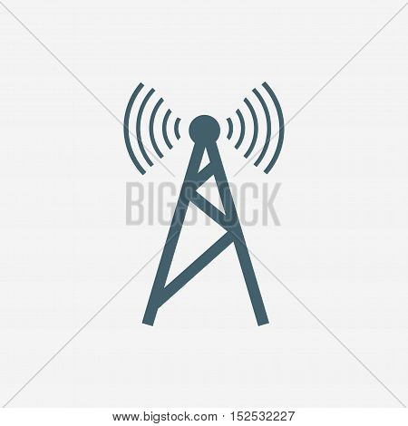 antenna vector icon isolated on white background