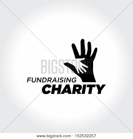 Helping People. Charity and Fundraising illustration Concept