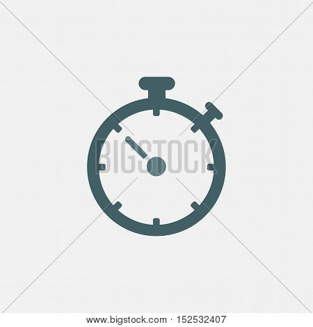 timer vector icon isolated on white background