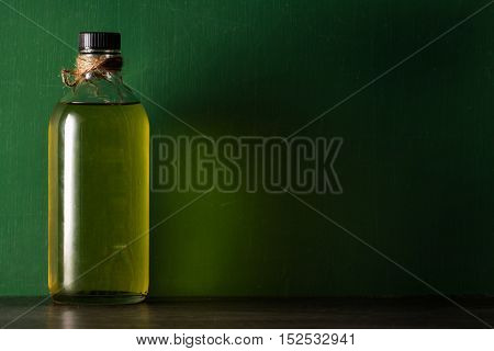 Olive Oil In The Bottle