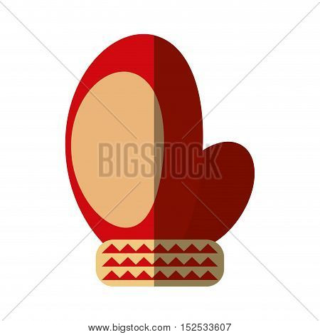 merry christmas glove isolated icon vector illustration design