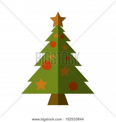 merry christmas tree isolated icon vector illustration design