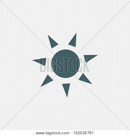 sun vector icon isolated on white background