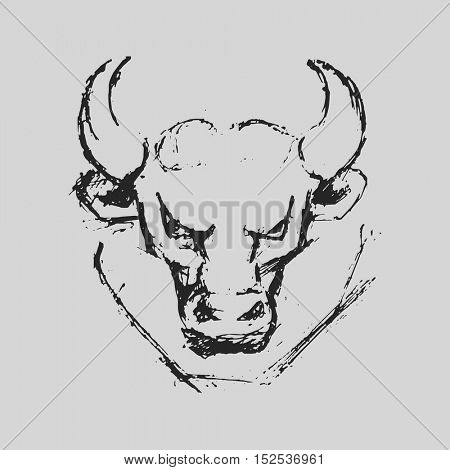 Taurus Astrological zodiac symbol. Horoscope sign background. Sketch style. Vector Illustration.