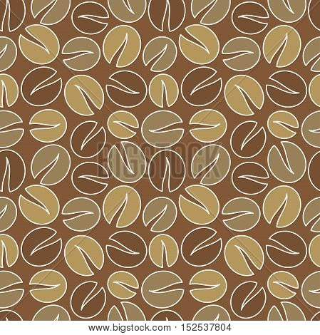 Coffee beans background seamless pattern. Vector illustration