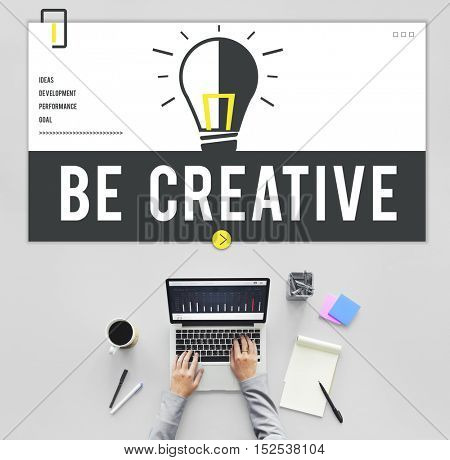 Fresh Ideas Light Bulb Graphic