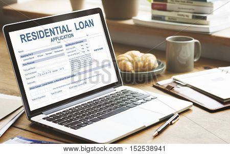 Residential Loan Real Estate Contract House Concept