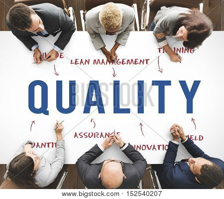 Quality Business Company Strategy Marketing Concept