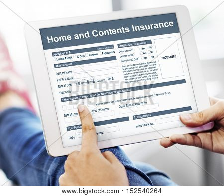 Home Contents Insurance Protection Safety Concept