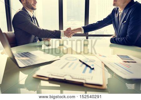 Businessman Handshake Corporate Colleagues Concept
