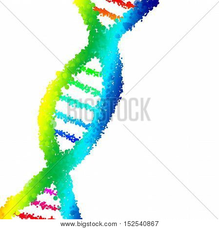 Dna genetic concept with a isolated spiral shape.
