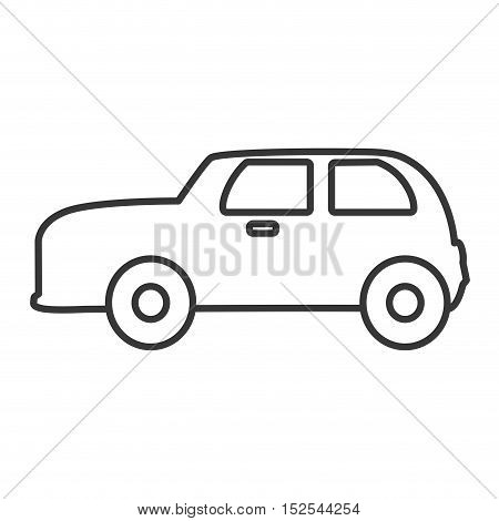 england classic car vehicle isolated icon vector illustration design