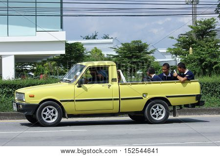 CHIANGMAI THAILAND - OCTOBER 6 2016: Private car Mazda Family mini Pick up truck. On road no.1001 8 km from Chiangmai city.