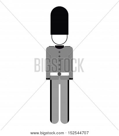 england soldier isolated icon vector illustration design